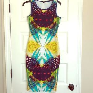 Like New Multi-color Spandex Dress